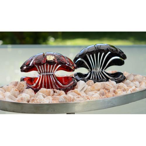 Crystal Seashell, color black, height 140 mm