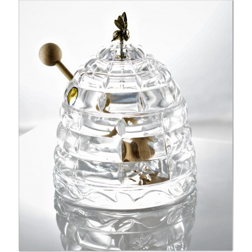 Crystal Honey Pot, color crystal clear, diameter 118 mm