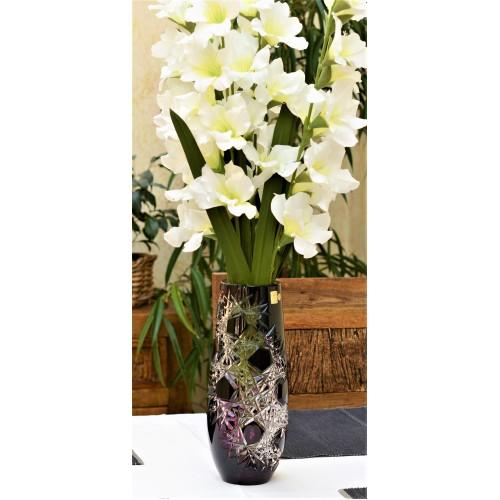 Crystal Vase Frost, color violet, height 300 mm