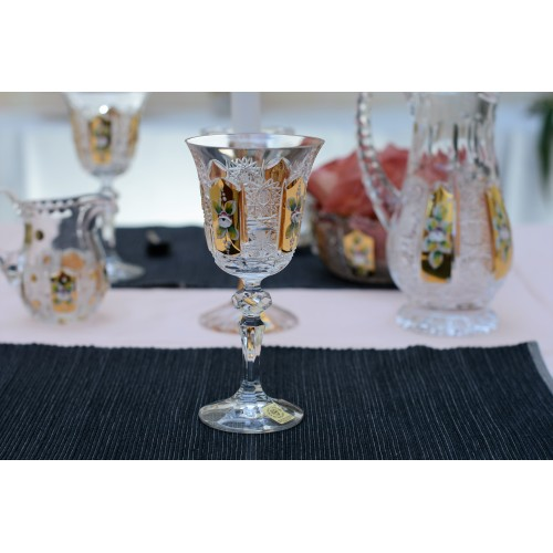 Tea crystal set 500PK gold , color clear crystal