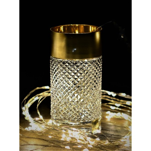 Crystal Glass gold dim, color clear crystal, volume 350 ml