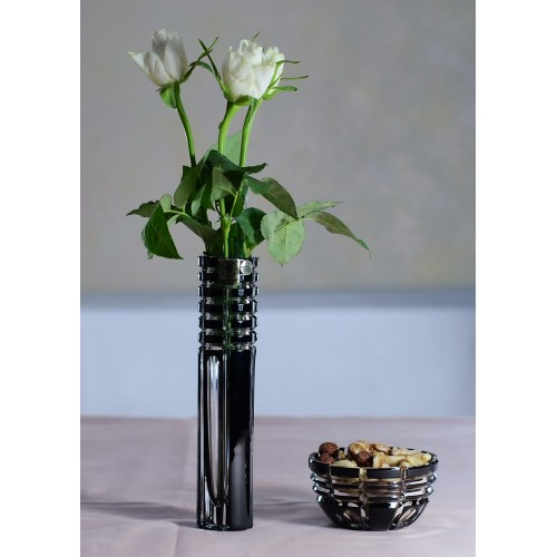 Crystal Bowl Nora, color black, diameter 90 mm