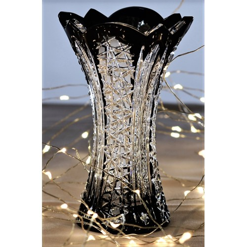 Crystal Vase Frigus, color black, height 155 mm