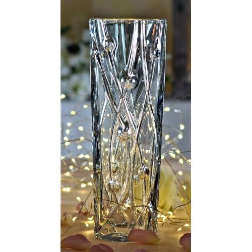 Crystal Vase Labyrinth Slim, unleaded crystalite, height 255 mm