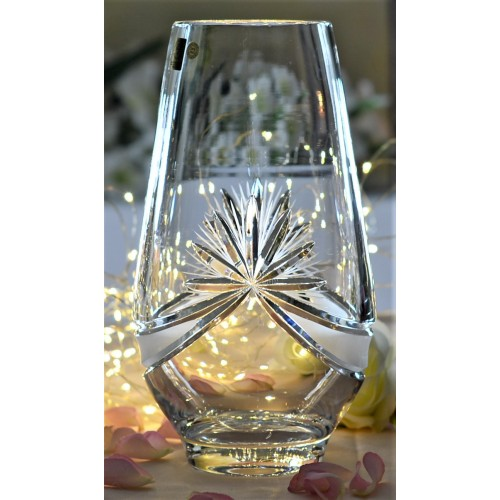 Crystal vase Ribbon, color clear crystal, height 255 mm