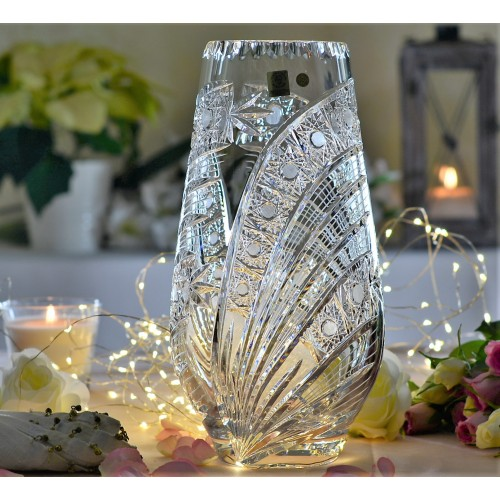 Crystal vase Comet, color clear crystal, height 305 mm