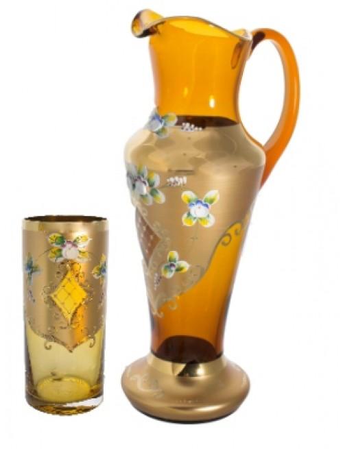 Set High Enamel 1+6, color amber