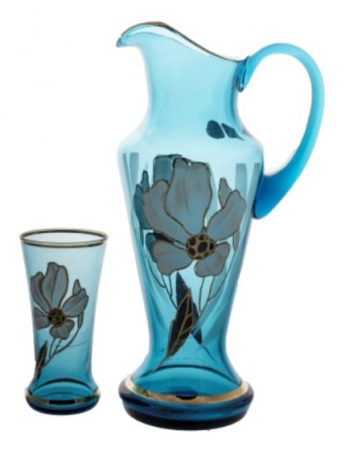 Set Flower 1+6, color azure