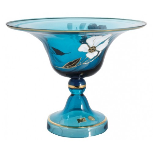 Footed bowl Flower, color azure, diameter 330 mm