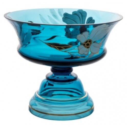 Footed bowl Flower, color azure, diameter 290 mm