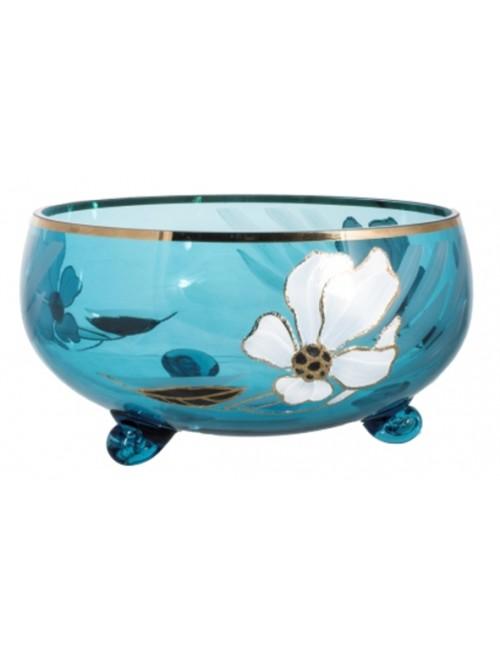 Bowl Flower, color azure, diameter 255 mm