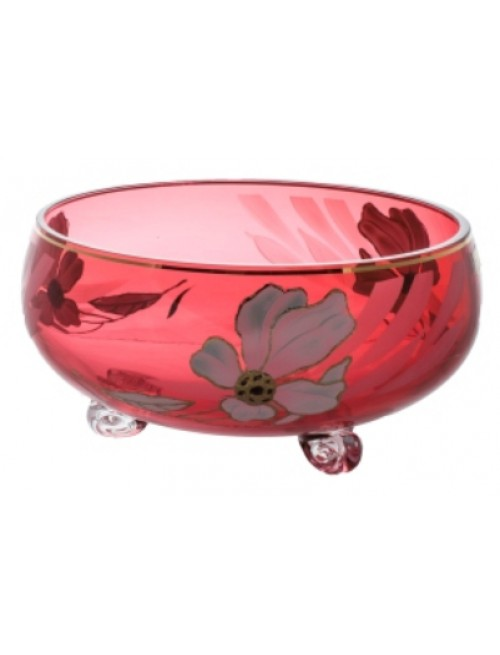 Bowl Flower, color ruby, diameter 255 mm