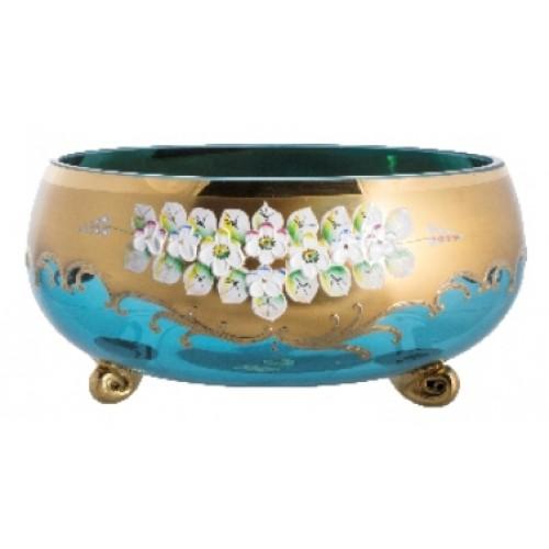Bowl High Enamel, color azure, diameter 255 mm
