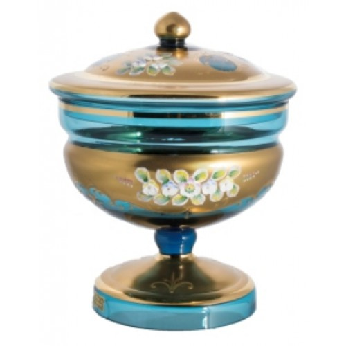 Box High Enamel, color azure, height 215 mm