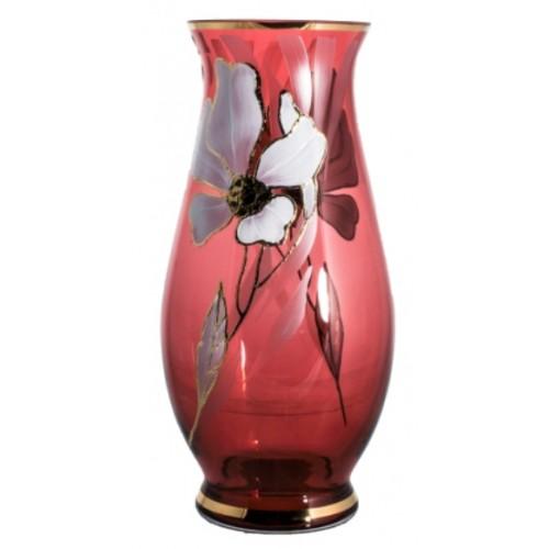 Vase Flower, color ruby, height 300 mm