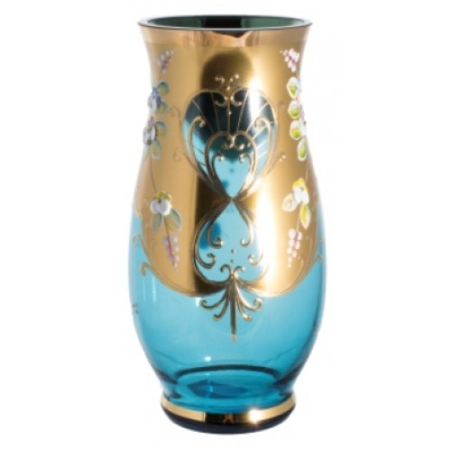 Vase High Enamel, color azure, height 400 mm