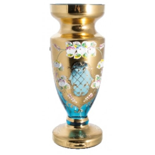 Vase High Enamel, color azure, height 210 mm