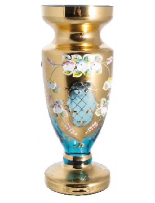 Vase High enamel, color azure, height 305 mm