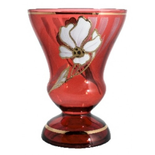 Vase Flower, color ruby, height 255 mm