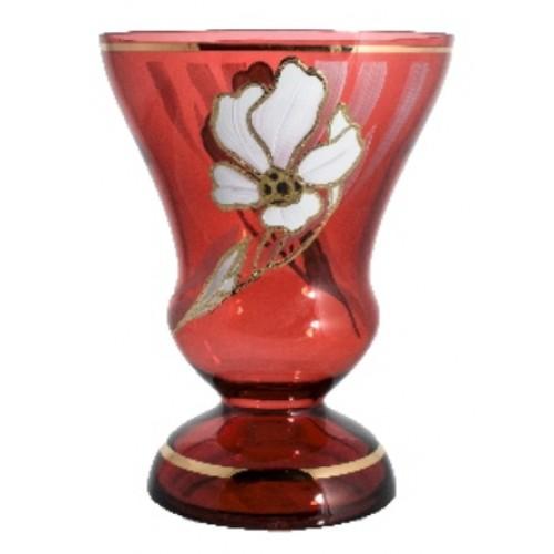 Vase Flower, color ruby, height 310 mm