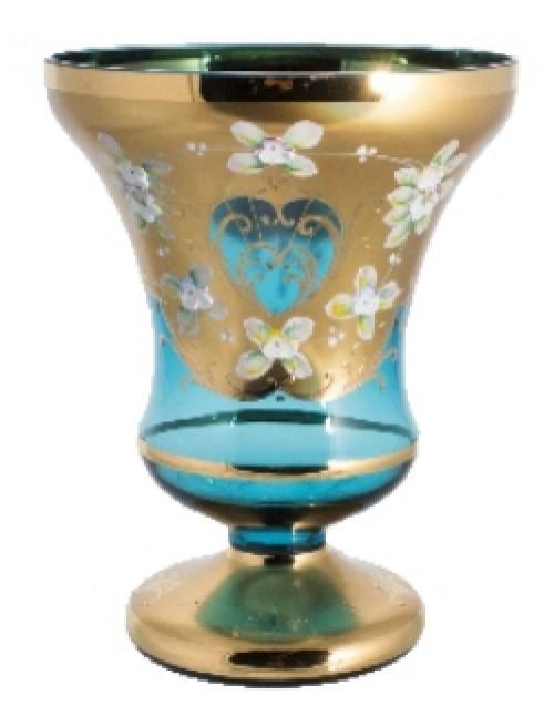 Vase High Enamel, color azure, height 205 mm