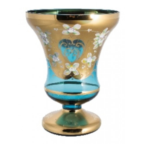 Vase High Enamel, color azure, height 310 mm