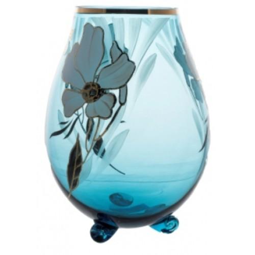 Vase Flower, color azure, height 260 mm