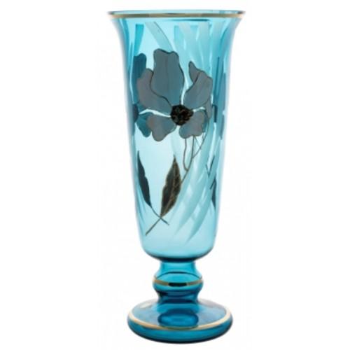 Vase Flower, color azure, height 400 mm