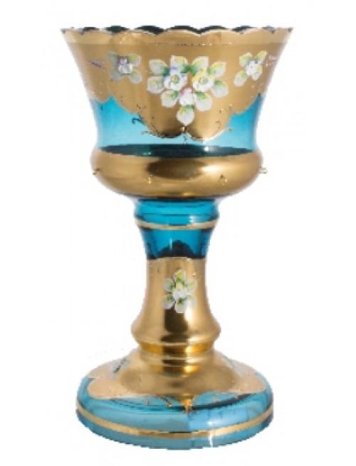 Vase High Enamel, color azure, height 260 mm