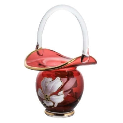 Basket Flower, color ruby, height 150 mm