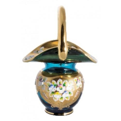 Basket Hight Enamel, color azure, height 150 mm
