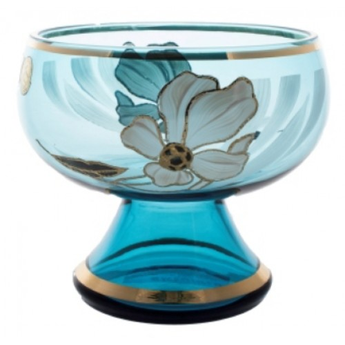 Footed bowl Flower, color azure, diameter 155 mm