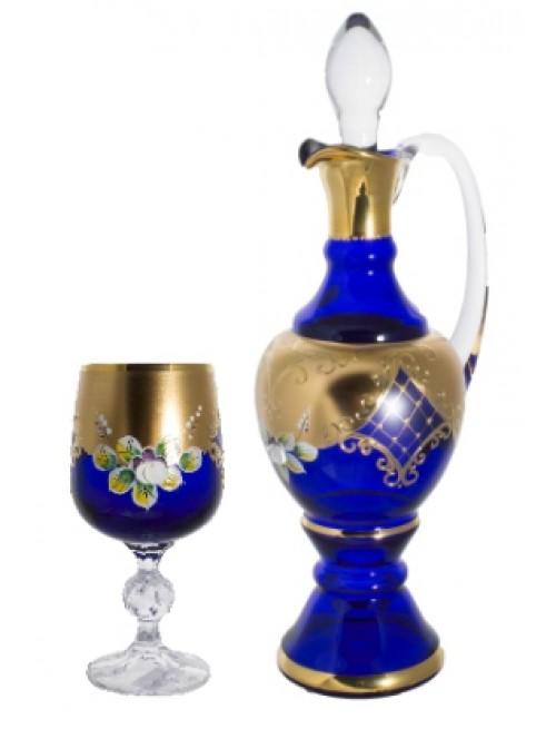Set High Enamel 1+6, color blue