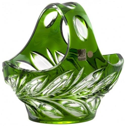 Crystal Basket Fluora, color green, diameter 200 mm