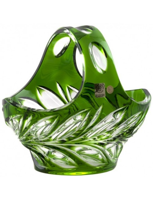 Crystal Basket Fluora, color green, diameter 200 mm