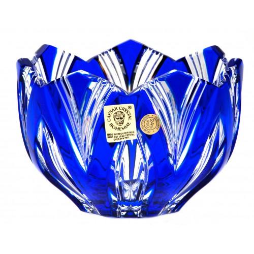 Crystal bowl Lotos, color blue, diameter 110 mm