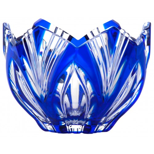 Crystal Bowl Lotos, color blue, diameter 95 mm
