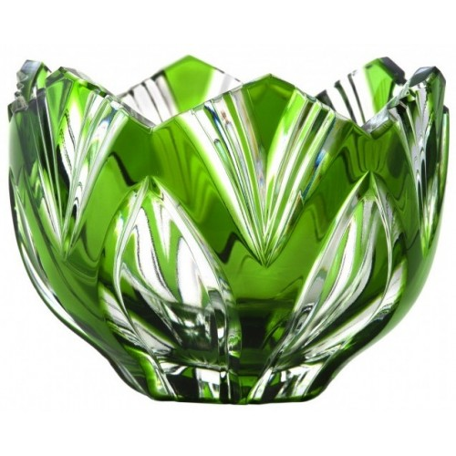 Crystal Bowl Lotus, color green, diameter 85 mm
