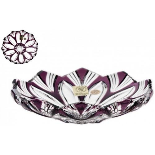 Crystal Plate Lotus, color violet, diameter 145 mm