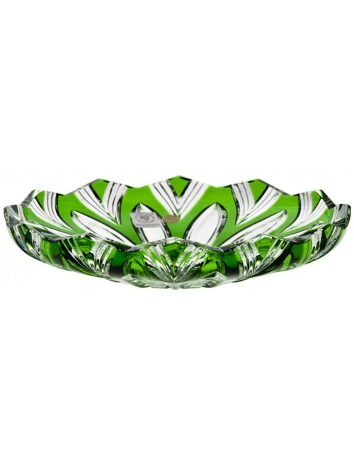 Crystal Plate Lotus, color green, diameter 180 mm