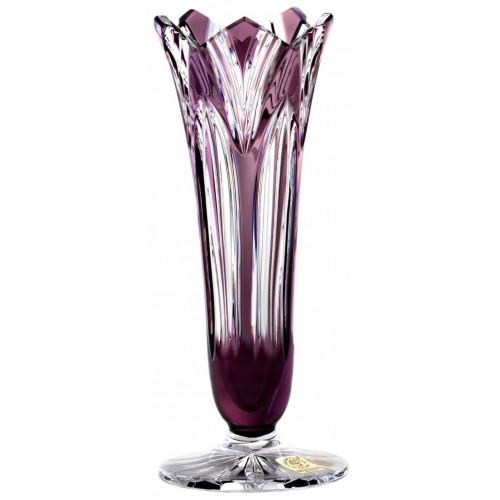 Crystal Vase Lotus, color violet, height 200 mm