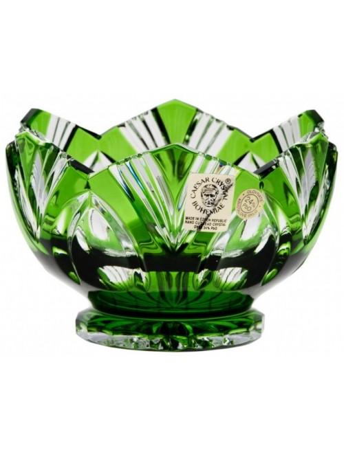 Crystal Bowl Lotus, color green, diameter 104 mm