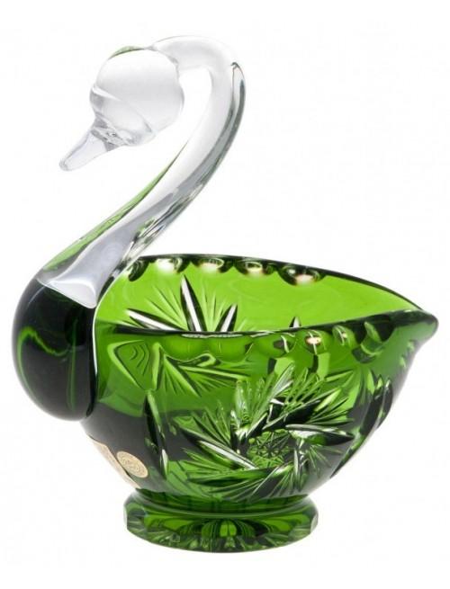 Crystal Swan Pinwheel, color green, diameter 114 mm