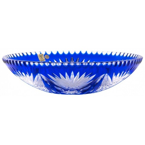Crystal Bowl Janette, color blue, diameter 280 mm