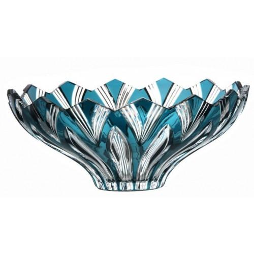 Crystal bowl Lotos, color azure, diameter 275 mm