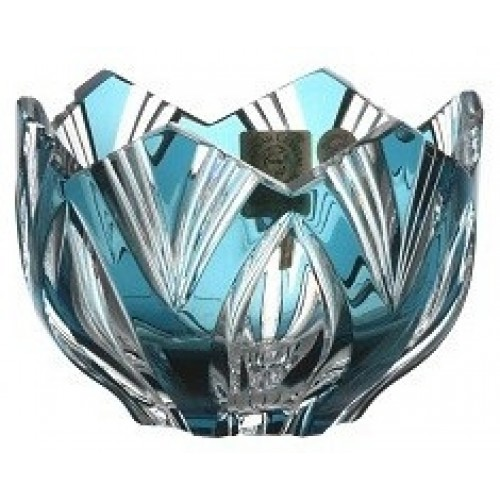 Crystal Bowl Lotus, color azure, diameter 95 mm