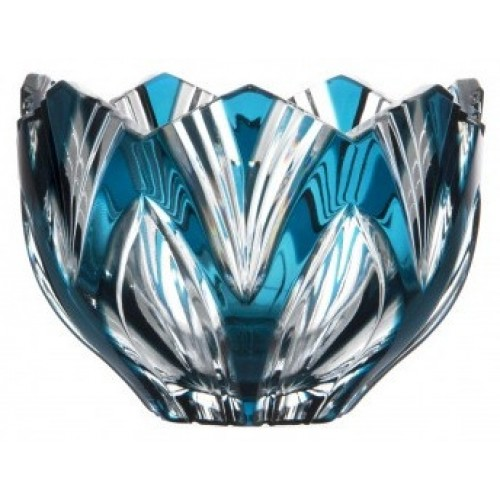 Crystal Bowl Lotus, color azure, diameter 110 mm