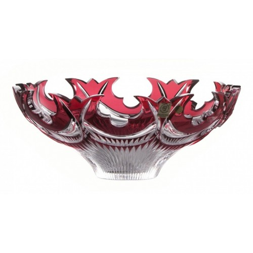 Crystal Bowl Diadem, color ruby, diameter 275 mm
