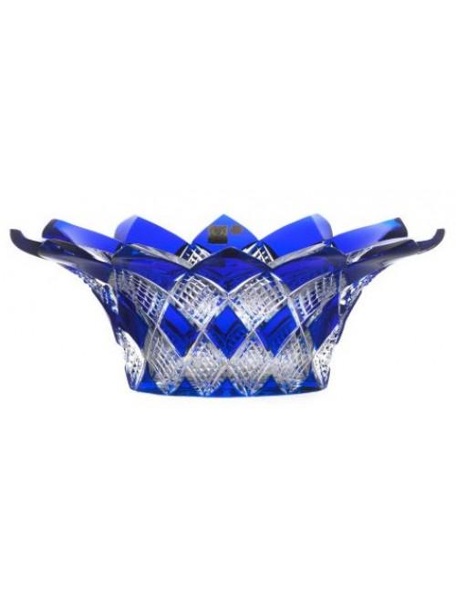 Crystal bowl Harlequin, color blue, diameter 300 mm