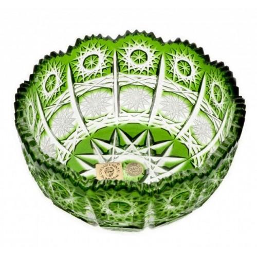 Crystal Bowl Paula, color green, diameter 116 mm